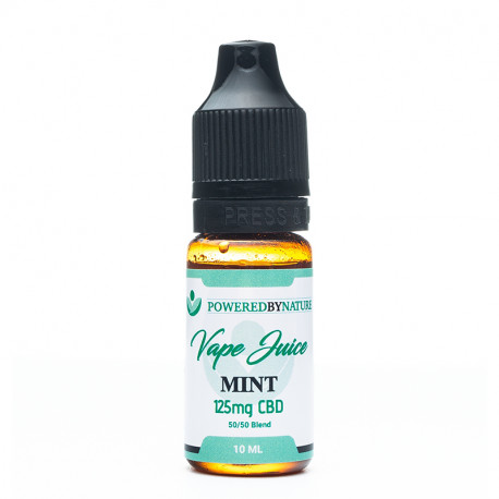 CBD and Mint Vape Juice 125mg - 10ml
