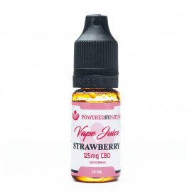 CBD and Strawberry Vape Juice 125mg - 10ml
